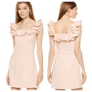 French connection Tea Gown Dress Ruffle whisper